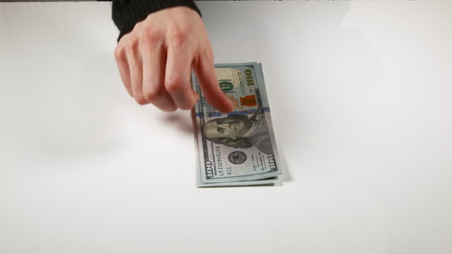 hands of woman and dollar banknotes, real time 4k - twenty us dollar note stock videos & royalty-free footage