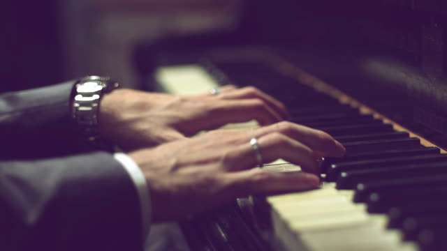hands on the piano - piano stock videos & royalty-free footage