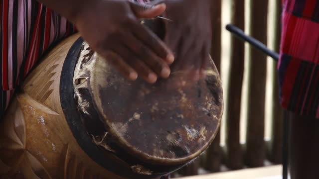 CU Hands playing native south African music on bongo like drum AUDIO / Windhoek, Khomas, Namibia