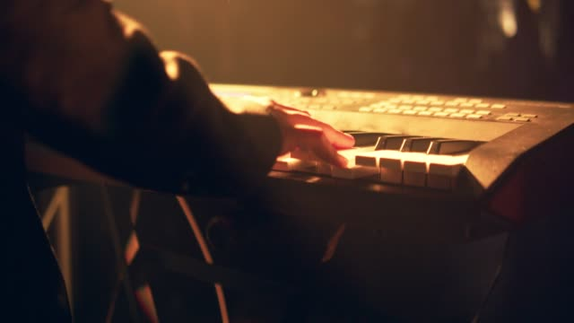 hands playing the white piano - live event stock videos & royalty-free footage