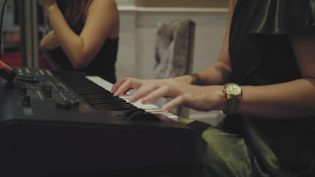 hands playing the white piano - concert stock videos & royalty-free footage