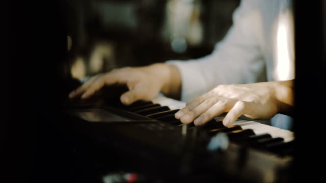 hands playing the white piano - producer stock videos & royalty-free footage