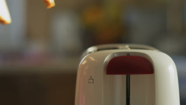 hands putting toast bread in toaster - toaster appliance stock videos & royalty-free footage