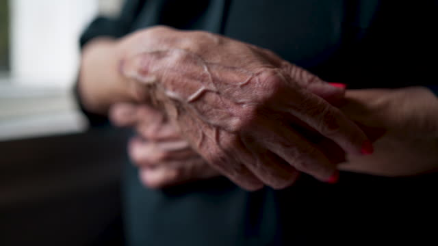 hands really do tell a story - loneliness stock videos & royalty-free footage