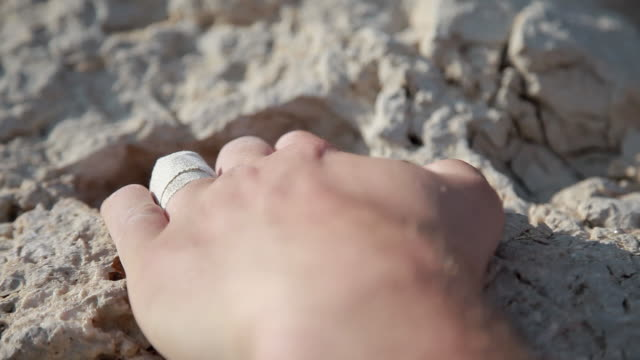 c/u hands, rock climbing - gripping stock videos and b-roll footage