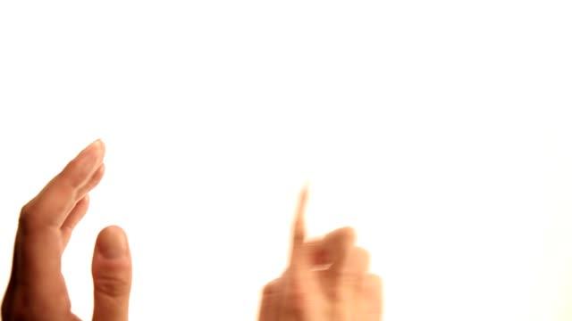Hands: scrolling gestures