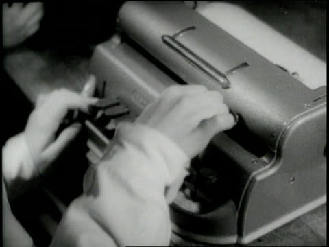 hands type on a braille typewriter. - 1940 stock videos & royalty-free footage