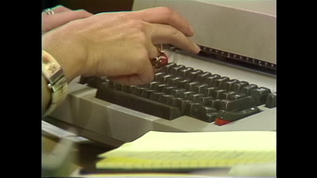 hands typing on an electric typewriter - 1978 stock videos & royalty-free footage