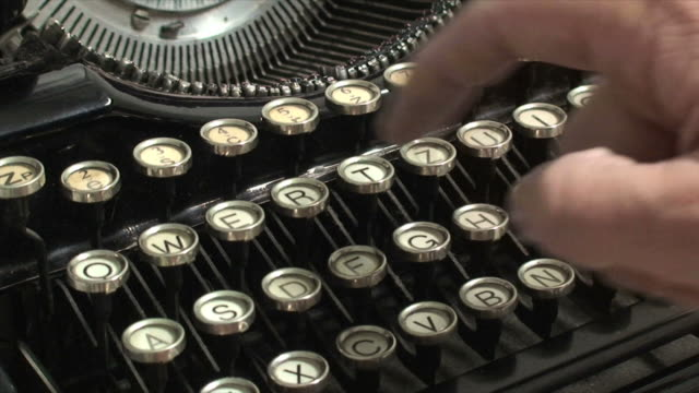 hands typing on vintage typewriter - audio available stock videos & royalty-free footage