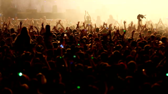 hands up at the concert - crowded stock videos & royalty-free footage