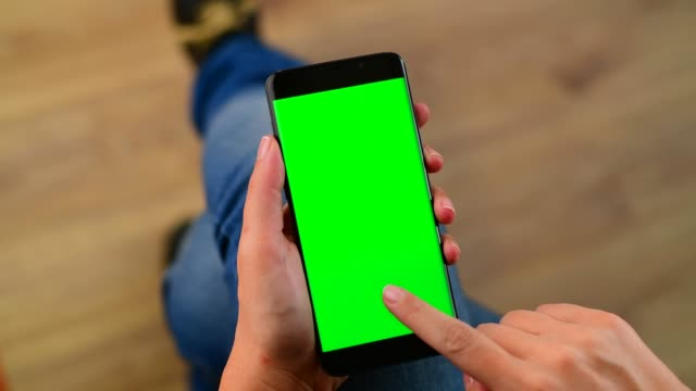 hands using a chroma key screen smart phone - tapping stock videos & royalty-free footage
