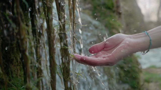 hands with pure spring water. crystal clear mountain water - harmony stock videos & royalty-free footage