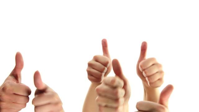手の親指盛り上がったアップ - 親指を立てる点の映像素材/bロール