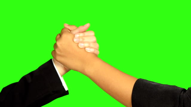 handshake on green screen background - keyable stock videos & royalty-free footage