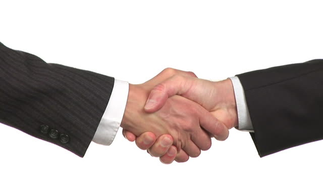 hd: handshake - white background stock videos & royalty-free footage