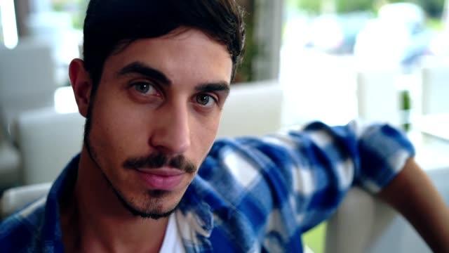 handsome man flirting - winking stock videos & royalty-free footage