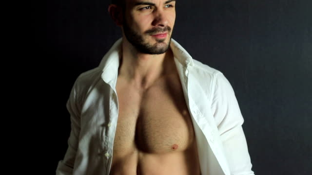 handsome man - sensuality stock videos & royalty-free footage