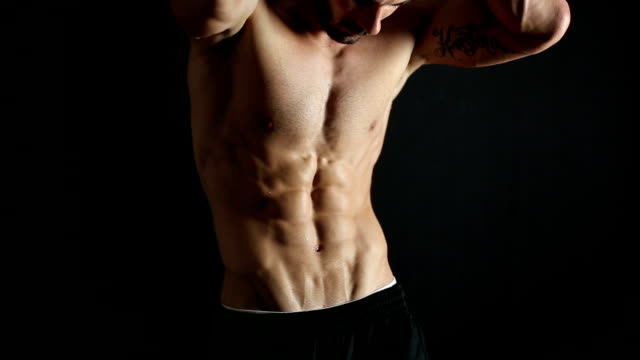 handsome muscular men - abdominal muscle stock videos & royalty-free footage