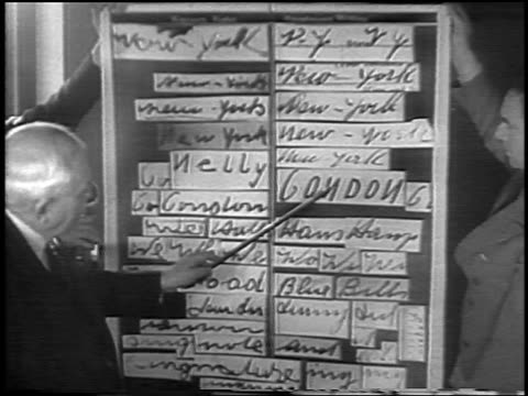 handwriting expert pointing to examples on board at lindbergh kidnapping trial / nj / news. - 1935 stock videos & royalty-free footage