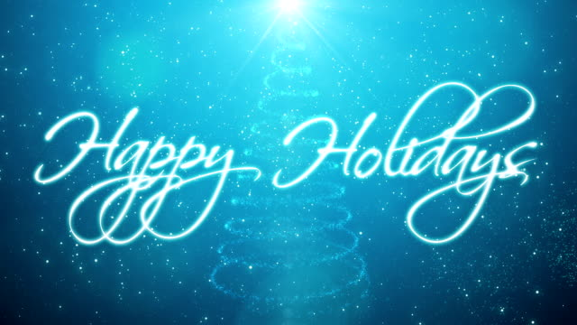 handwritten happy holidays - happy holidays stock videos & royalty-free footage