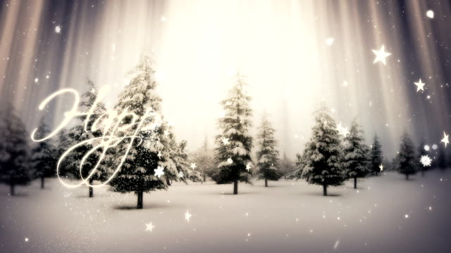 handwritten happy holidays | winter landscape - holiday event stock videos & royalty-free footage