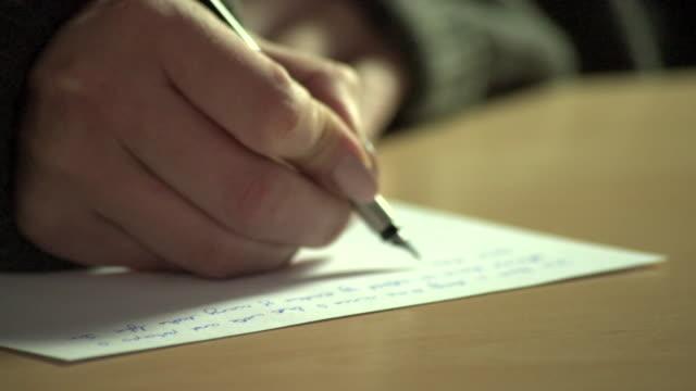 handwritten notes - fountain pen stock videos & royalty-free footage