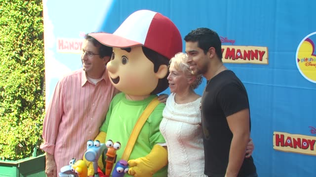 handy manny, wilmer valderrama at the exclusive premiere of disney channel's 'handy manny motorcycle adventure' at hollywood ca. - wilmer valderrama stock videos & royalty-free footage