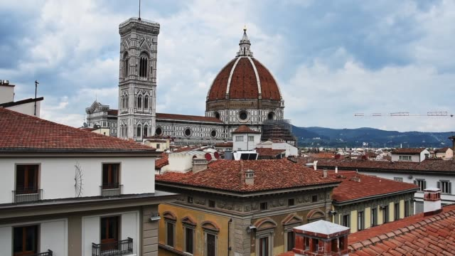 handy view of the santa maria del fiore church in florence - fiore stock videos & royalty-free footage