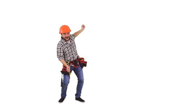 Handyman showing copy space