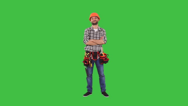 Handyman standing in confident pose