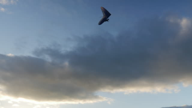 hang gliding at sunset - hang gliding stock videos and b-roll footage