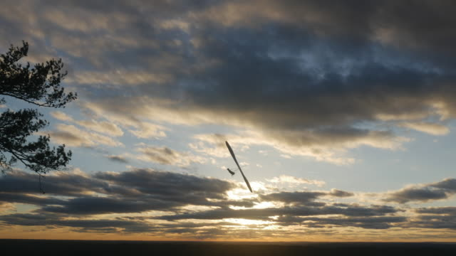 hang gliding at sunset - ease stock videos & royalty-free footage