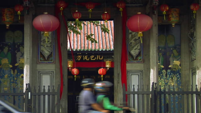 ms zo hang jiang teochew temple on lebuh chulia / george town, penang, malaysia - penang stock videos and b-roll footage
