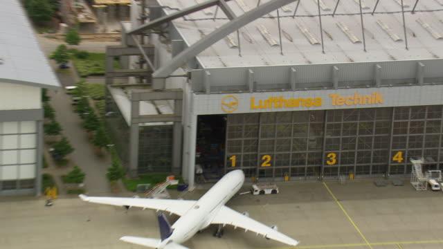 CU AERIAL ZO Hanger of Lufthansa Technik / Germany