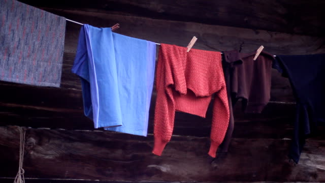 hanging cloth (hd) - laundry stock videos and b-roll footage