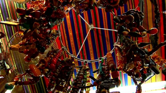LA hanging jewelery for sale in souk, Muscat, Oman