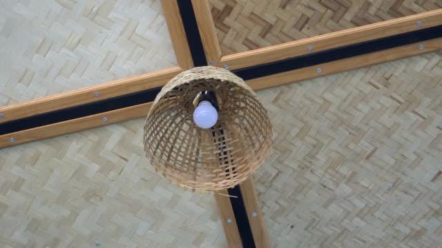 hanging lamp - pendant light stock videos & royalty-free footage