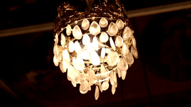 hanging lights in the church - pendant light stock videos & royalty-free footage