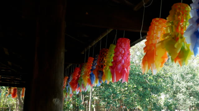 hanging mobile thailand culture - hanging mobile stock videos & royalty-free footage