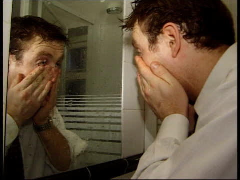 hangovers and how to cope with them itn london gilbert looking ill with hangover - the morning after stock videos and b-roll footage