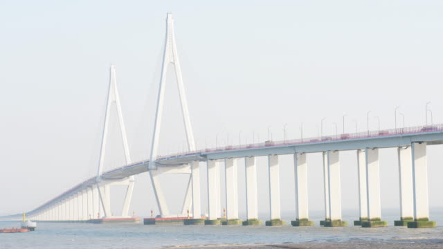 hangzhou bay bridge - bay of water stock videos & royalty-free footage