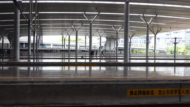 hangzhou railway station platform - abstract stock videos & royalty-free footage