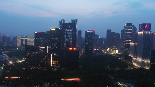 hangzhou urban architecture scenery - hangzhou stock videos & royalty-free footage