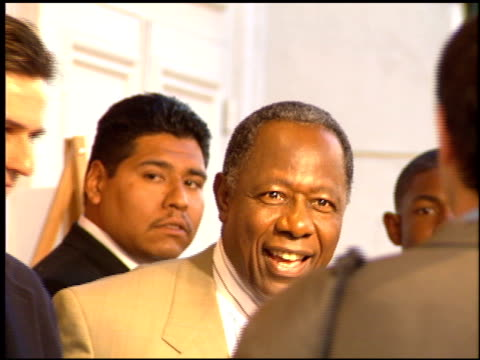 hank aaron at the 'hank aaron chasing the dream' premiere on april 10 1995 - hank aaron stock videos & royalty-free footage
