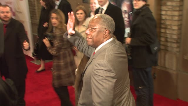 hank aaron at the opening night of 'cat on a hot tin roof' at new york ny - hank aaron stock videos & royalty-free footage
