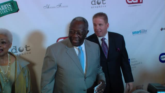 hank aaron at the the harold pump foundation 10th annual gala at los angeles ca - hank aaron stock videos & royalty-free footage