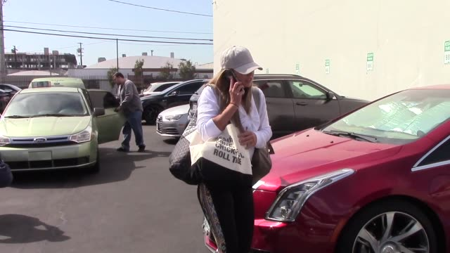 hannah brown arrives at the dwts rehearsal studio in hollywood in celebrity sightings in los angeles on - dancing with the stars stock videos & royalty-free footage