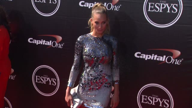 hannah davis at the 2015 espys at microsoft theater on july 15 2015 in los angeles california - microsoft theater los angeles stock videos and b-roll footage