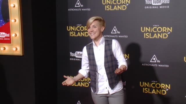 hannah hart at a trip to unicorn island world premiere at tcl chinese theatre on february 10 2016 in hollywood california - hart island stock videos & royalty-free footage