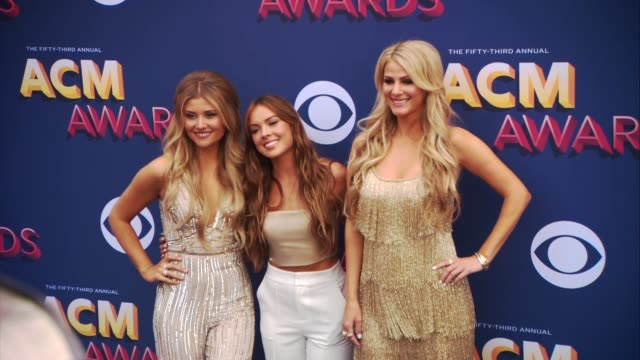 hannah mulholland naomi cooke and jennifer wayne at the 53rd academy of country music awards at mgm grand garden arena on april 15 2018 in las vegas... - academy of country music awards stock videos & royalty-free footage